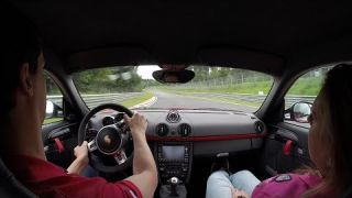 Porsche Cayman R Nurburgring Nordschleife with Girlfriend